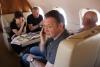 В самолете. На переднем плане - Андрей Трухачев, муж Ирины Горбачевой.